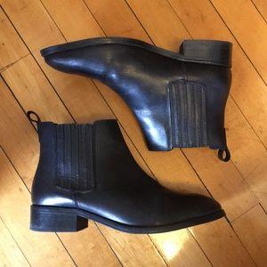 ASOS black leather Chelsea boot